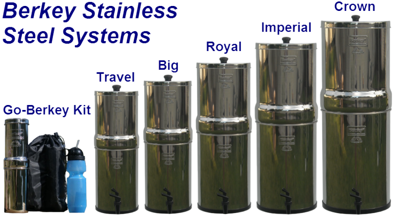See the Full Line of Berkey Water Filters and Purifiers
